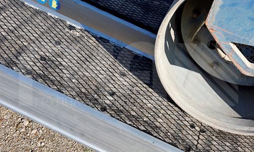 Алюминиевые погрузочные рампы с одним краем и покрытые резиной